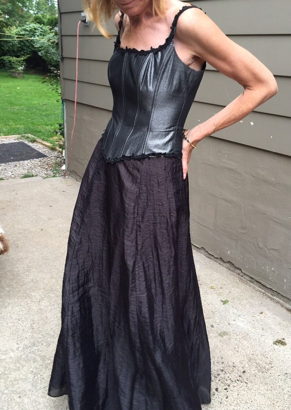 Goth Vintage Medieval style Corset and Long Skirt