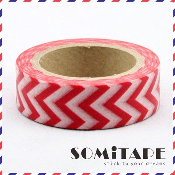 Craft Decorative Tape Pink Zigzag Washi Tape