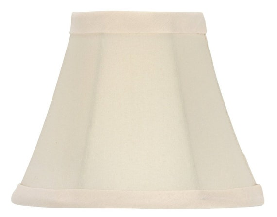 Upgradelights White Linen 8 Inch Square Bell Candle Stick Clip On Lampshade 4x8x7