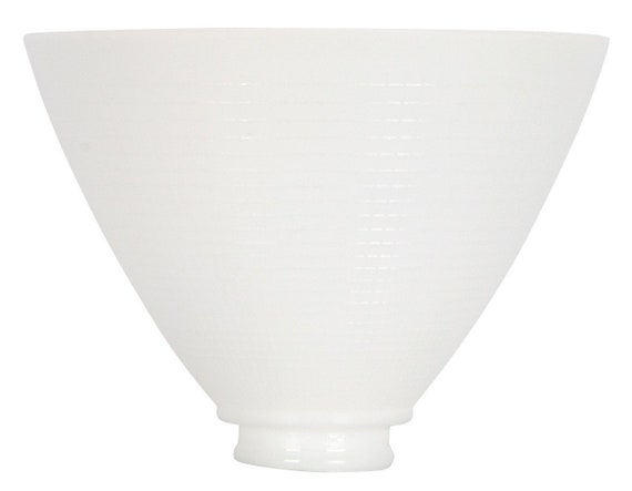 White Opal Glass 8 Inch Reflector Floor Lampshade Replacement Etsy