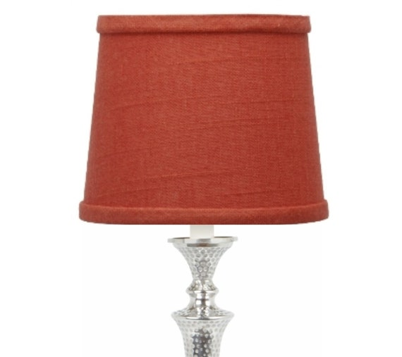 Linen 10 Inch European Drum Lampshade, Slip Uno Drum Lamp Shades