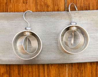 Handmade sterling silver earrings, handmade earrings, sterling silver,