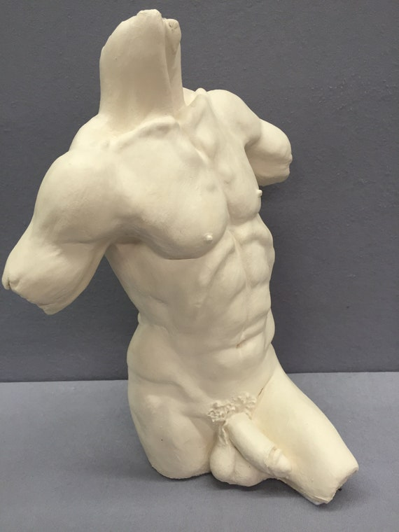 Antique Bronze Sculpture Of Male Nude With Stone By Hugo Siegwart For Sale