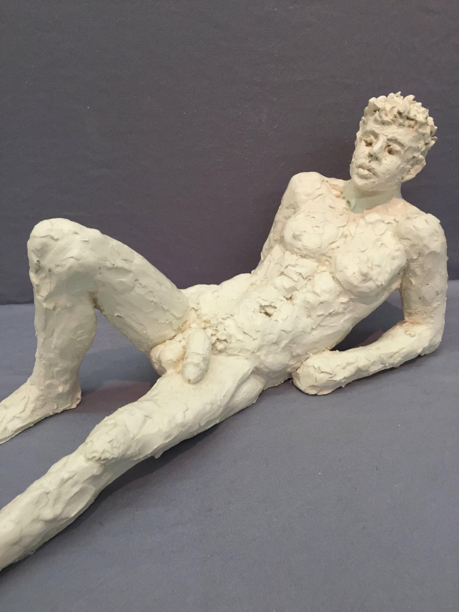 China Garden Bronze Statue Nude Male Sculptures