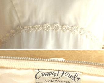 1970s Boho Chic Floor Length Wedding Dress / Vintage Wedding Dress / 1970s Hippie Wedding Dress / Emma Domb Wedding Dress / 1970s