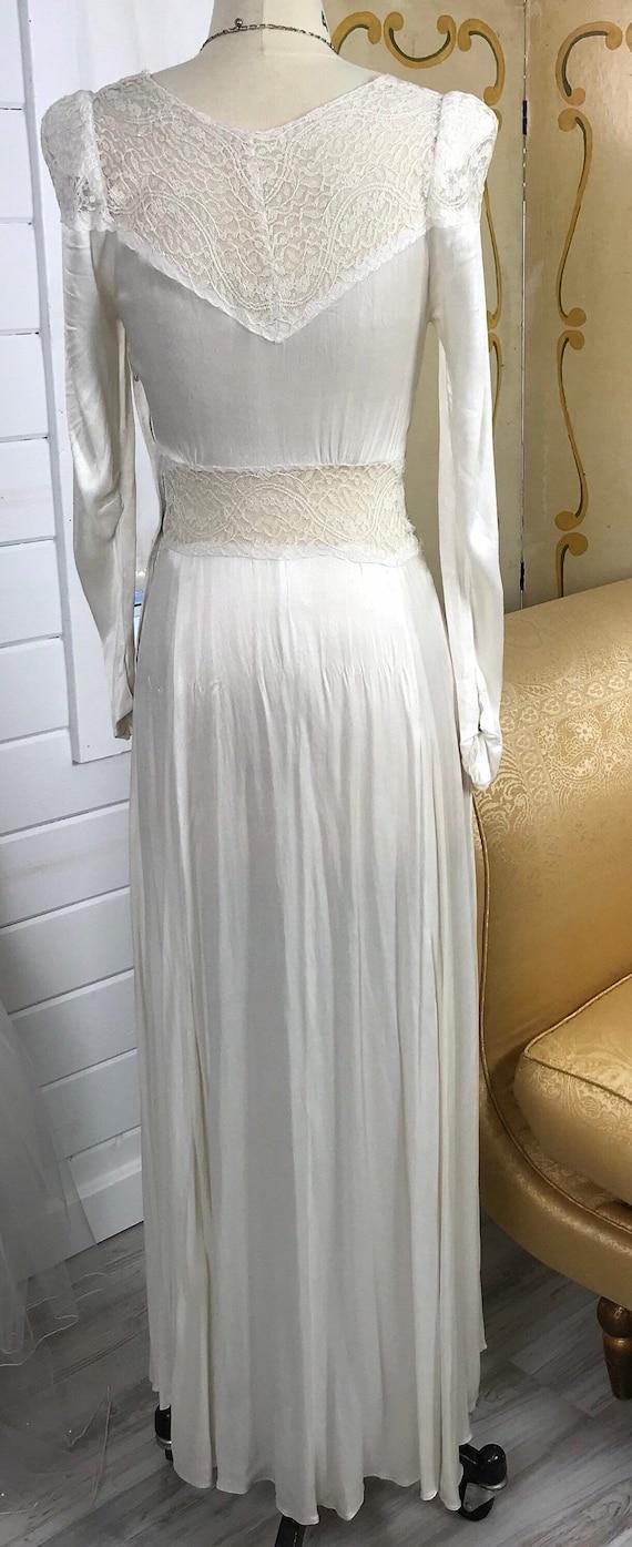 1930's Vintage Wedding Dress / Art Deco Wedding D… - image 5