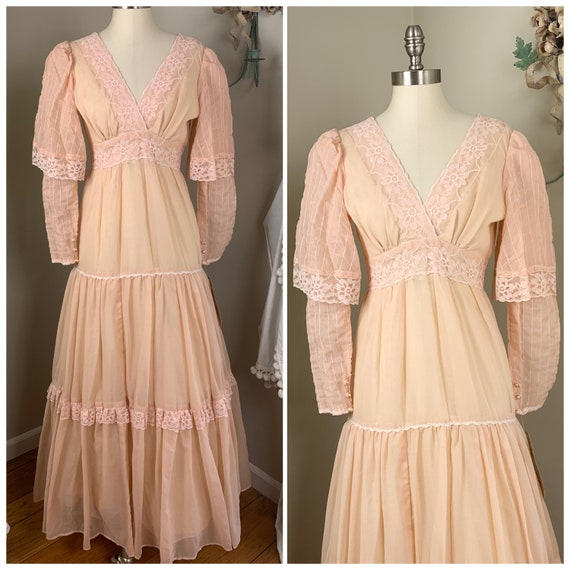 Vintage Gunne Sax by Jessica Maxi Dress | Peachy P