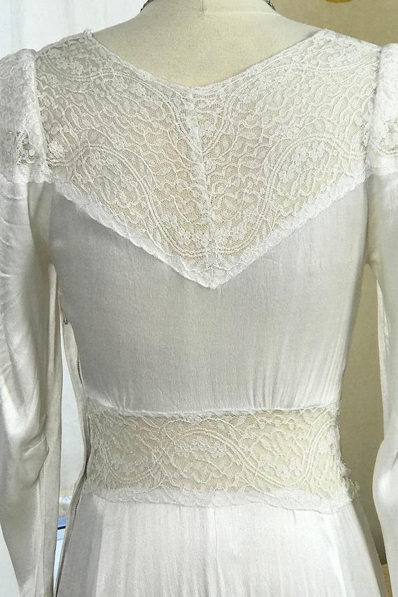 1930's Vintage Wedding Dress / Art Deco Wedding D… - image 6