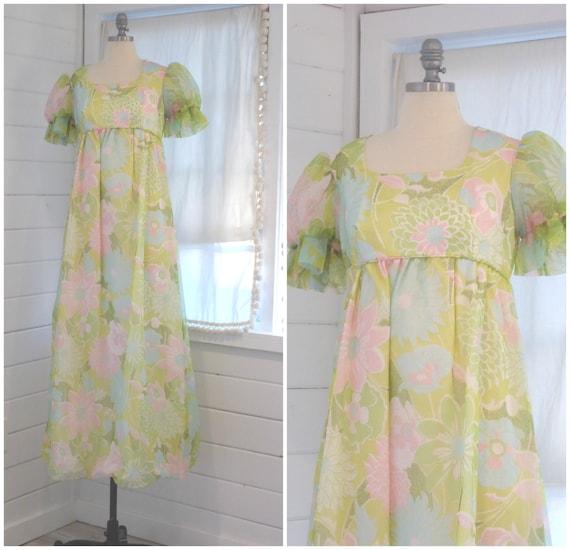 1960s Emma Domb Original Floral Dress