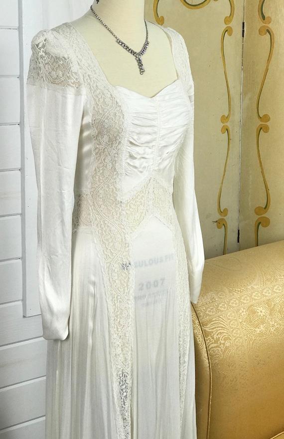 1930's Vintage Wedding Dress / Art Deco Wedding D… - image 8