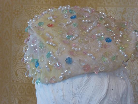 1950s Christian Dior Couture Bridal Hat / Vintage… - image 5