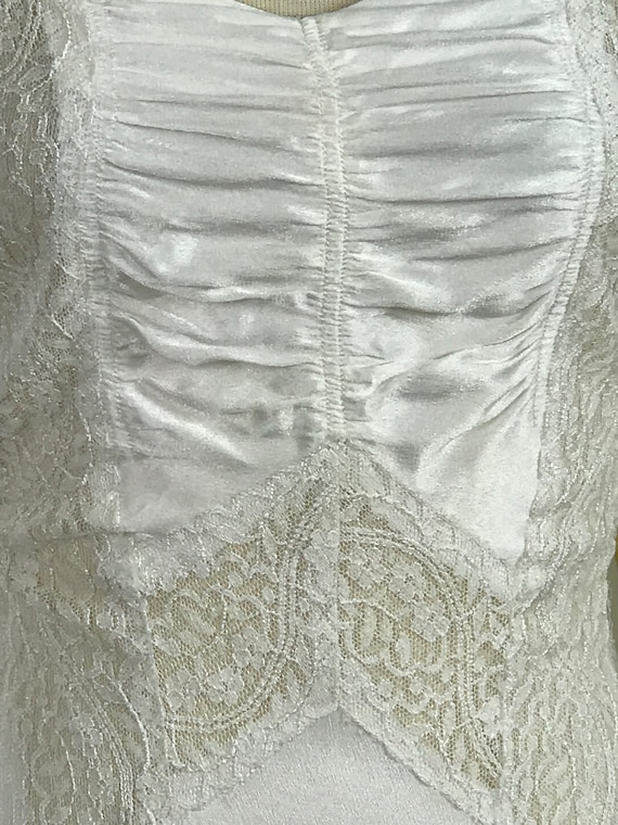 1930's Vintage Wedding Dress / Art Deco Wedding D… - image 7