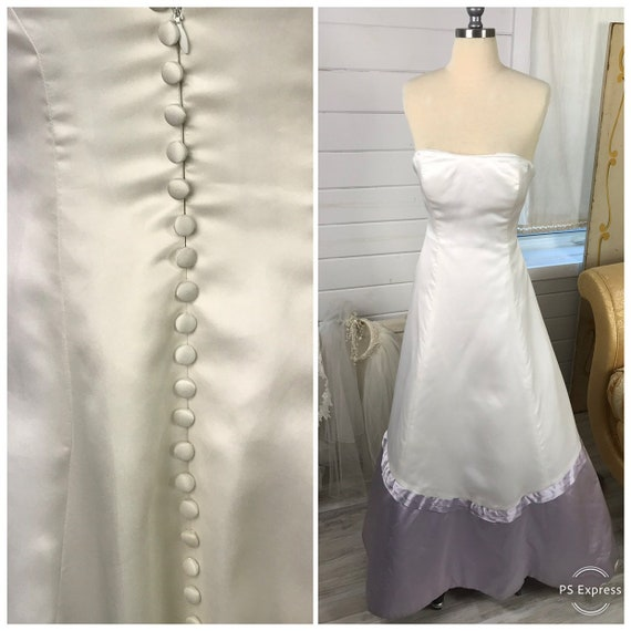 Vintage Vera Wang White Silk Wedding Dress with La