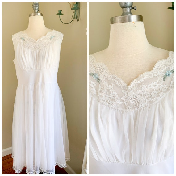 Vintage 1950s Wedding Lingerie | 1950s Sheer Peign