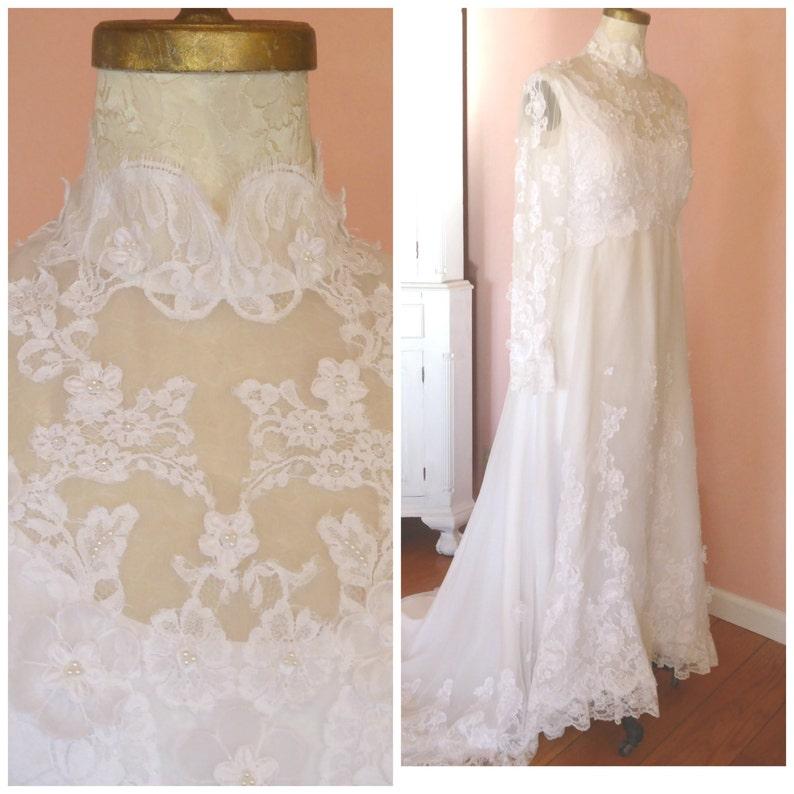 a943bff006 1960s Boho Chic Vintage Wedding Dress   Hippie Wedding Dress