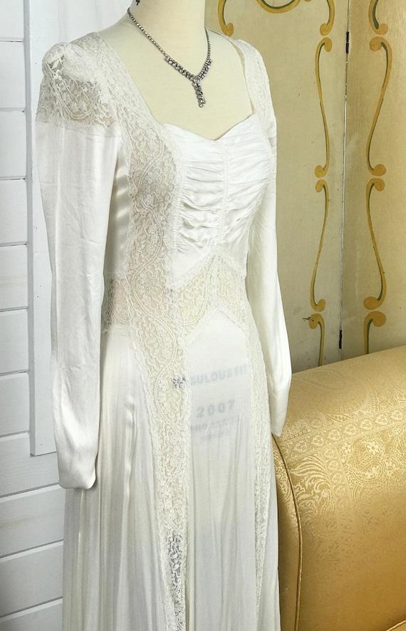 1930's Vintage Wedding Dress / Art Deco Wedding D… - image 10