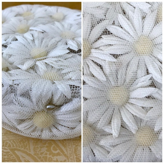 1960s Vintage Daisy Pillbox Hat | 1960's Pillbox H