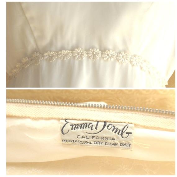 1970s Boho Chic Floor Length Wedding Dress / Vinta