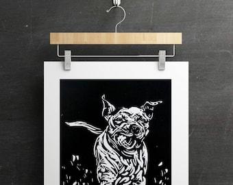 Custom Dog Portrait - Dusty