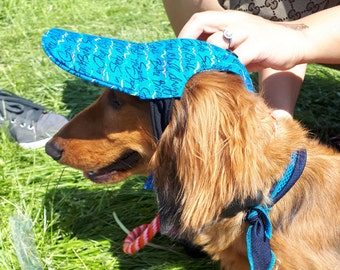Dog Baseball Cap With Extended Bill. Extra Sun Protection. Custom Made Following Yours Dog Head Measurements