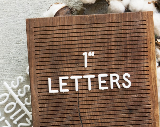 1 INCH Extra Letters - White - 248 Characters