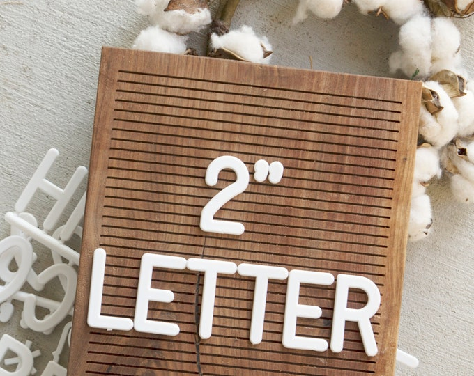 2 INCH Extra Letters - White - 94 Characters