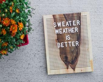 Wooden Letter Board 8x10 - English Walnut -  Letterboard, Message Board, Felt Board, Modern Farmhouse, Modern Cabin, Natural, Handcrafted