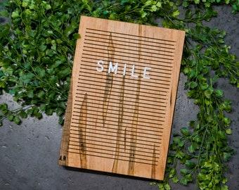 Wooden Letter Board 7x10 - WORMY MAPLE - Letterboard, Message Board, Felt Board, Modern Farmhouse, Modern Cabin, Natural, Handcrafted, Wood