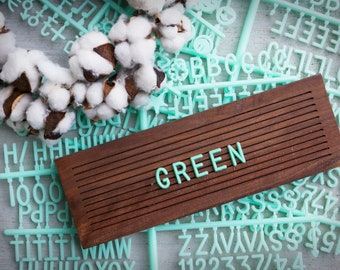 GREEN Extra Letters - 3/4 Inch - 350 Characters