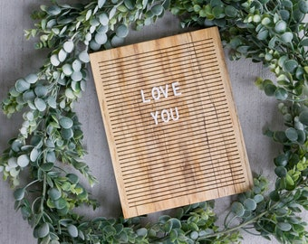 Wooden Letter Board 8x10 -  Spalted Maple-  Letterboard, Message Board, Felt Board, Modern Farmhouse, Modern Cabin, Natural