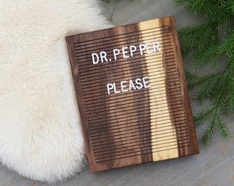 Wooden Letter Board 8x10 - Walnut (Banded) -  Letterboard, Message Board, Felt Board, Modern Farmhouse, Modern Cabin, Natural, Handcrafted