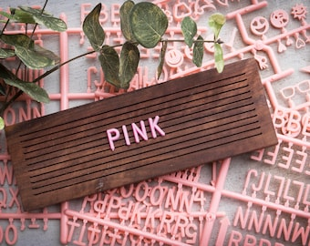 PINK Extra Letters - 3/4 Inch - 350 Characters