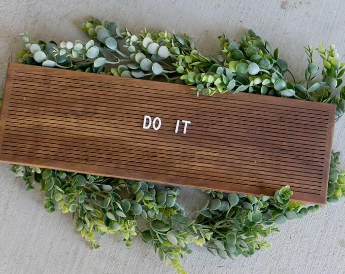 Wooden Letter Board 6x20- Walnut -  Letterboard, Message Board, Felt Board, Modern Farmhouse, Modern Cabin, Natural, Organic, Handcrafted