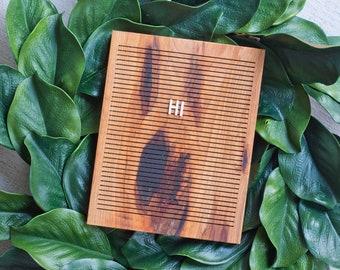 Wooden Letter Board 8x10 -  Ingrown Bark Hickory-  Letterboard, Message Board, Felt Board, Modern Farmhouse, Modern Cabin, Natural
