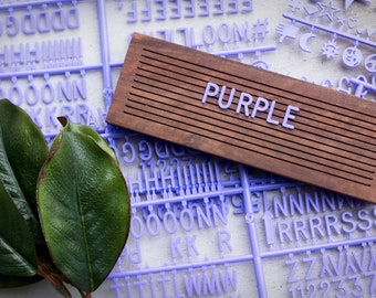 PURPLE Extra Letters - 3/4 Inch - 350 Characters