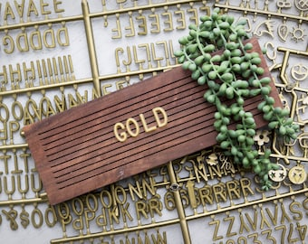 Gold Extra Letters - 3/4 Inch - 350 Characters