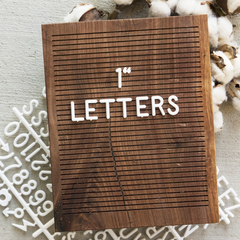 1 INCH Extra Letters  White  248 Characters image 0