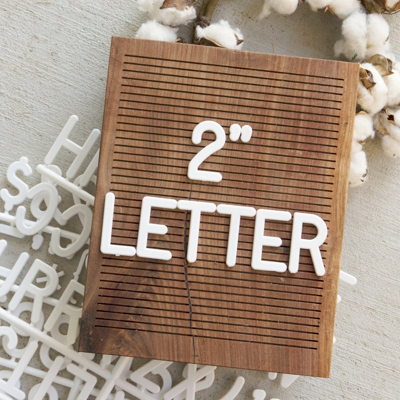 2 INCH Extra Letters  White  94 Characters image 0