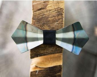 Metal Bow Tie (Heat Tipped) - Steel, Heat Treated, Handmade, Adjustable, Unique Bowtie, Wood Bow Tie, Wooden Bow Tie, Groom Tie, Silver Tie