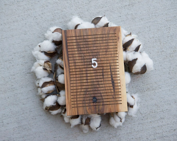 Wooden Letter Board 5x7 -  Rustic Hickory-  Letterboard, Message Board, Felt Board, Modern Farmhouse, Modern Cabin, Natural, Cottage Core