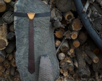 Leather Skinny Ties