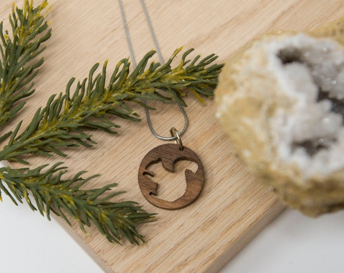Squirrel Necklace, Animal Necklace, - Explore, Nature, Fall, handmade, camping, outdoor, totem, PNW, Pacific Northwest, Washington, Oregon
