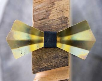 Brass Metal Bow Tie - Heat Treated - Brass, Gold, Handmade, Adjustable, Unique, Wooden Bow Tie, Wood Bow Tie, Groom, Groomsmen, Wedding