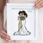 Personalized Mother of the Bride Gift from Daughter, Wedding Gift Parents, Thank you gift for Mom, Mother of the Groom gift from Bride Print
