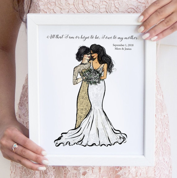 Gift From Bride To Mother: Personalized Mother Of The Bride Gift From Daughter
