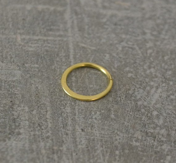 Brass Nose Ring Simple Nose Ring Boho Nose Earring Small Etsy