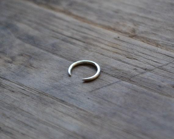 Sterling Silver Septum Ring 16 Gauge Septum Ring Open Nose Etsy