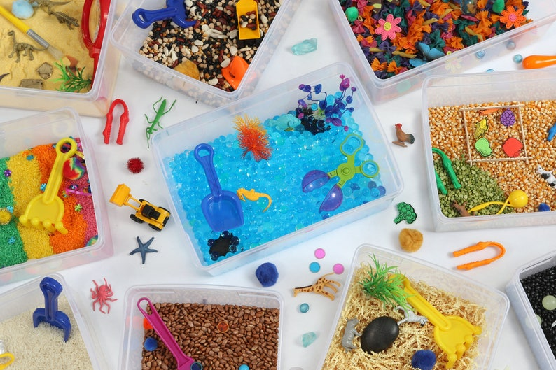 12 Months - Monthly Subscription Box for Kids - Sensory Toys for 3 year old  - Sensory Bin - Kids Subscription Box - Craft Kit for Kids