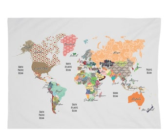 World Map 26x36 Tapestry
