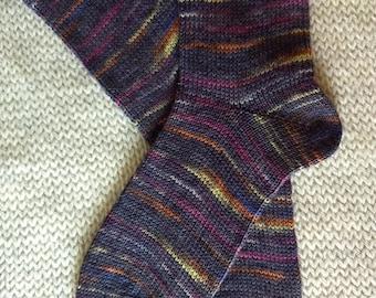 Hand Cranked Socks, Hand Made Wool Socks, Knit Wool Socks, Women's Socks, Teen Socks, Men's Socks, Women's size 6-7